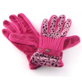 Красиви дамски ръкавици - еко кожа и текстил