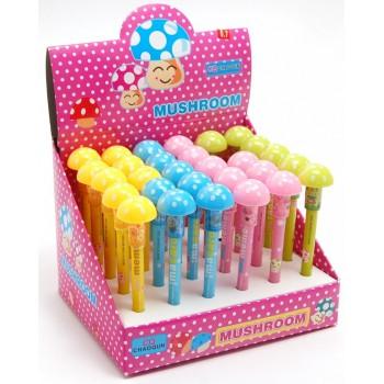 Автоматичен молив с цветен корпус и декоративен завършек