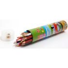 Комплект от 24 броя цветни моливи с острилка в красива кутия с размери 20х5см