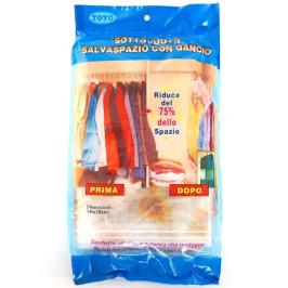 Вакуумиращ плик за опаковка и съхранение на дрехи със закачалка - 70х145см