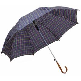 Чадър с цветен принт, метален механизъм и ергономична дръжка - 76см