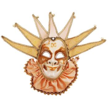 Декоративна маска, изработена от порцелан, декорирана със звънчета