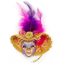Декоративна фигурка маска с магнит, изработена от порцелан