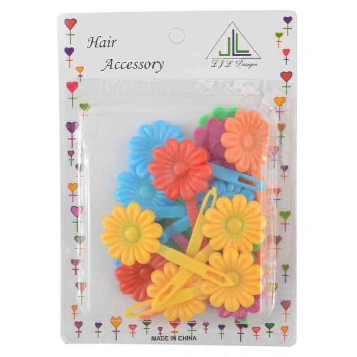 Комплект цветни фиби за коса във формата на маргаритка