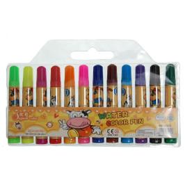Комплект 12 броя цветни мини флумастри