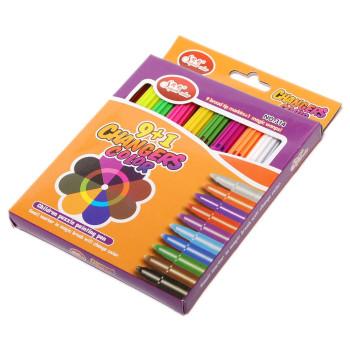 Комплект флумастери - 10 цвята