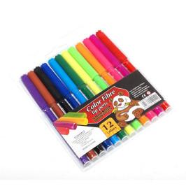 Комплект 12 броя цветни флумастри