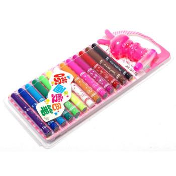 Комплект 13 броя цветни флумастри с помпичка за ефекти и шаблони