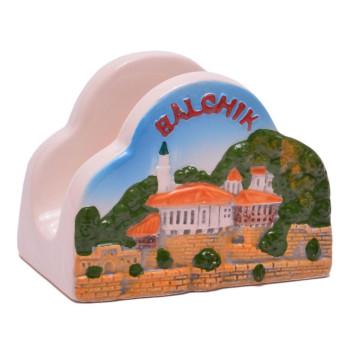 Сувенирна релефна поставка за салфетки, изработена от полцеран
