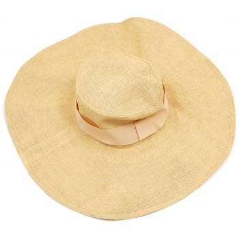 Красива плетена шапка с периферия - кремава