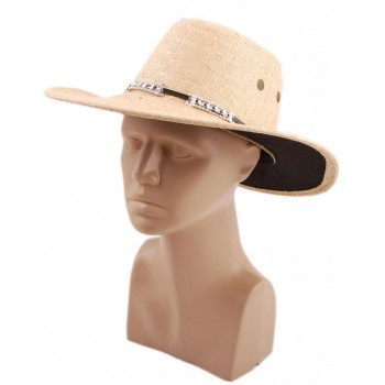 Лятна плетена шапка с регулиращи връзки, кант и декорация