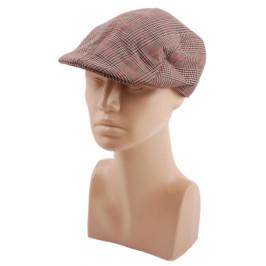 Лятна шапка тип каскет от плат с мини козирка