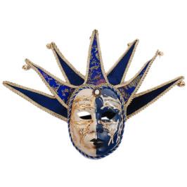Декоративна маска за лице, украсена с изкусвена перла и звънчета