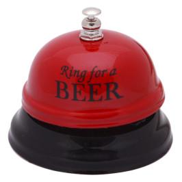 Забавен метален настолен звънец с надпис Ring for a beer