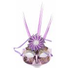 Декоративна маска - тип домино с брокат и декоративно цвете