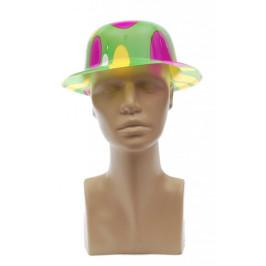 Цветна карнавална шапка - тип бомбе, изработена от PVC материал