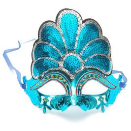 Декоративна маска - тип домино с пайети