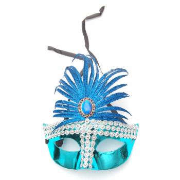 Декоративна маска - тип домино с камъчета