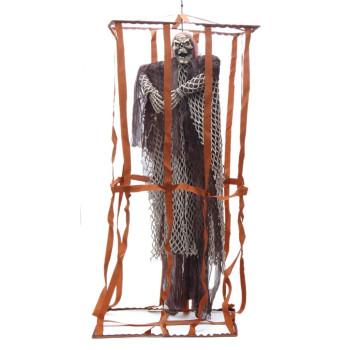 Сувенирна кукла - призрак в клетка, издаваща звуци