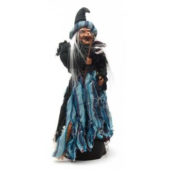 Сувенирна кукла - Баба Яга с метла, издаваща звуци