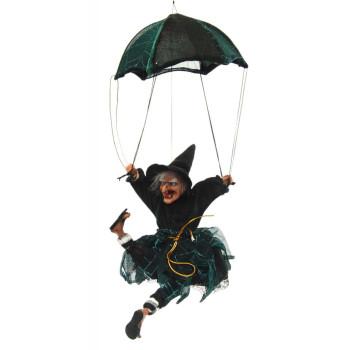 Сувенирна кукла - Баба Яга с парашут, издава звуци и движи крака