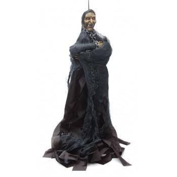 Сувенирна кукла - призрак с верига, издаващ звуци и движещ ръце