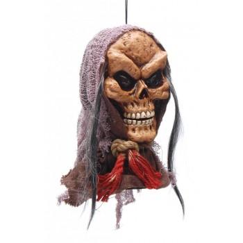 Сувенирна кукла - глава на призрак, издаващ звуци