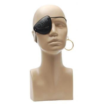 Парти комплект - пиратска превръзка за око и обеца с клипс за закачане
