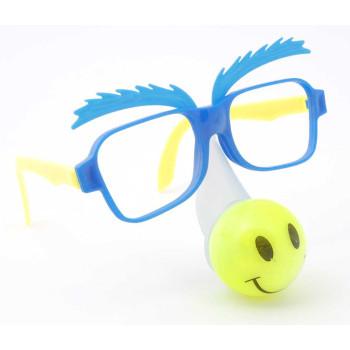 Цветни карнавални очила със светещ нос