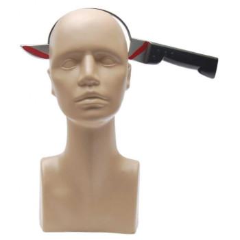 Парти артикул - нож през главата, изработен от PVC материал
