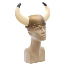 Парти аксесоар - каска с рога, изработена от PVC материал