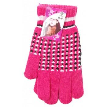 Плетени дамски ръкавици с еластичен маншет