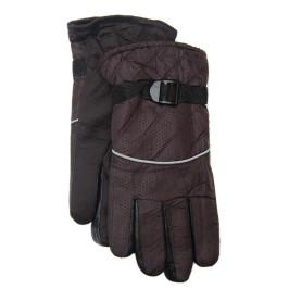 Спортни скиорски ръкавици от импрегнирана материя с текстилни маншети и регулатор за широчина на китката