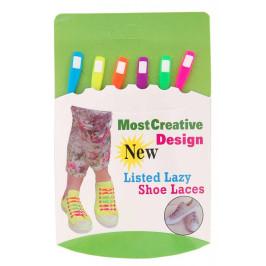 Комплект ластични връзки за обувки - 6бр