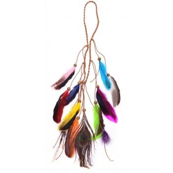 Аксесоар за коса от естествени пера, с който може да се направи красива и оригинална прическа