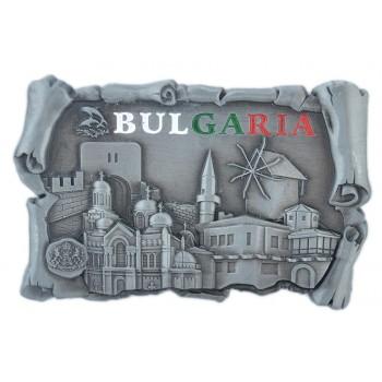 Магнитна метална фигурка, декорирана с релефни забележителности от Балчик, Варна, Калиакра и Несебър