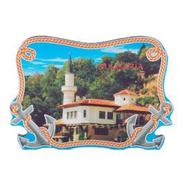 Сувенирна магнитна фигурка с лазерна графика - двореца в Балчик