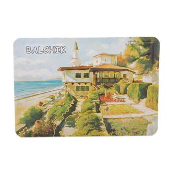 Сувенирна релефна магнитна пластинка - изобразен е двореца в Балчик като картина