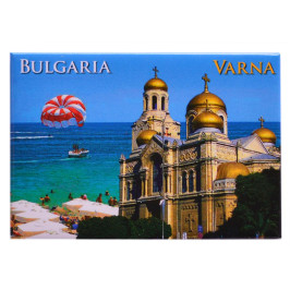 Магнитна пластинка - картичка - изгледи от Варна