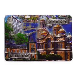 Магнитна пластинка - картичка - забележителности от Варна