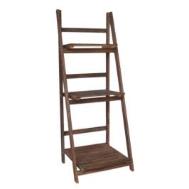 Дървен стелаж на три етажа, на който може да поставите панери/ саксии с различни големина
