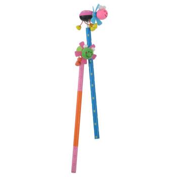 Молив с цветен корпус и забавен декоративен завършек