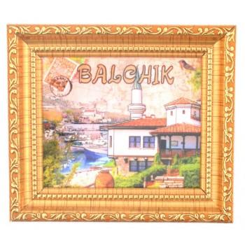 Сувенирна магнитна фигурка във формата на картина с рамка - двореца в Балчик