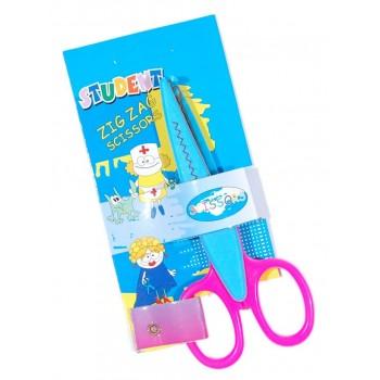 Цветна декоративна ножица, чрез която се създават красиви апликации и картички