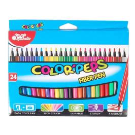 Комплект от 24бр цветни флумастри