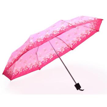 Сгъваем чадър, декориран с цветя