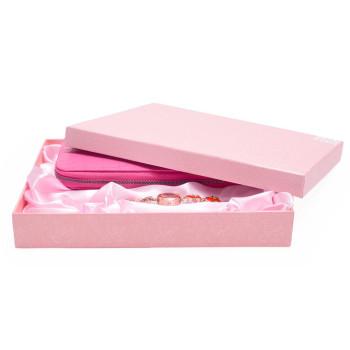 Луксозен подаръчен комплект, включващ портмоне, ръчен часовник и химикал