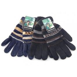 Плетени зимни ръкавици с декоративни шевици