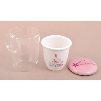 Чаша за чай с керамична цедка и капаче