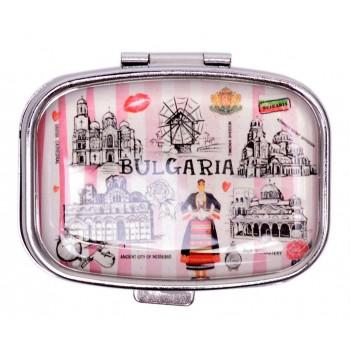 Сувенирна кутийка за лекарства с огледалце